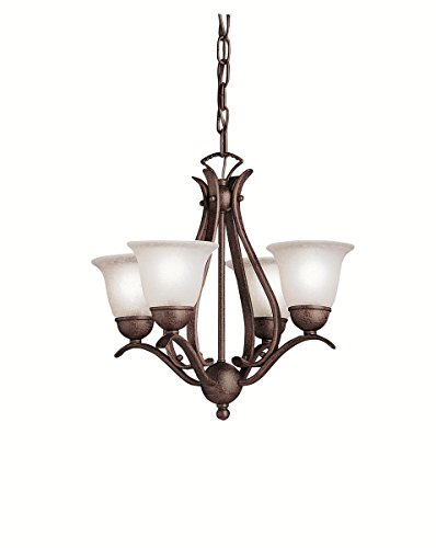 Mini Chandeliers 4 Light with Tannery Bronze Finish Candelabra Bulb 18 inch 240 Watts