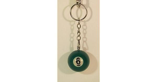 Amazon.com: 1.25 inch Número 6 Seis Mini bolas de billar ...