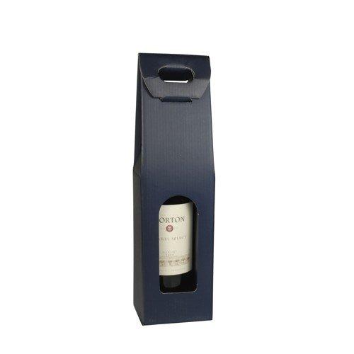 Pap-Star Caja de Transporte Vino/Regalo Cajas en Diferentes diseños/para 1 - 2 - 3 Botellas/Regalo de Transporte cartón para de Color Blanco y Rojo de Vino, ...