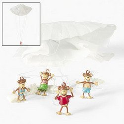 BEACH MONKEY PARATROOPERS (4 DOZEN) - BULK by Fun Express by Fun Express