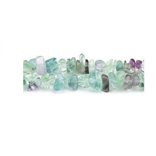 Long Strand Of 240+ Purple/Green Rainbow Fluorite 5-8mm Chip Beads - (GS3065) - Charming Beads