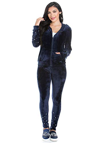 (My Yuccie Women's Casual Hoodie and Sweatpants Basic Active Tracksuit Set)