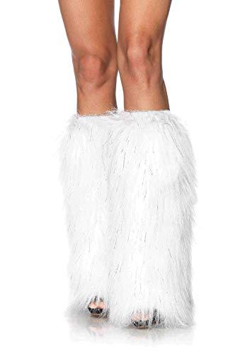White Fur Leg Warmers ( Leg Avenue Faux Fur Lorax Legwarmers for Women, White/Silver, One)