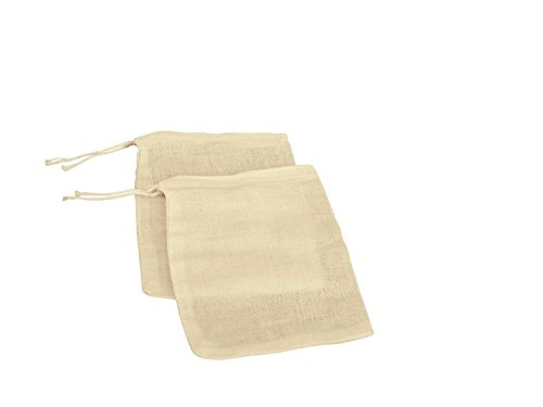 Natural Muslin Drawstring Bags | Ivory, Light Tan Muslin Bags,100% Cotton Woven Bags w/ Drawstring Closure (4' x 6' (Pack of 50))