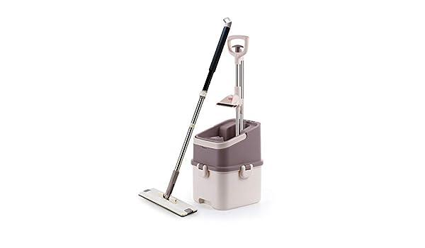 lavado de manos libres agua mopa plana piso de madera herramienta de limpieza limpieza fregona auto-exprimiendo: Amazon.es: Alimentación y bebidas