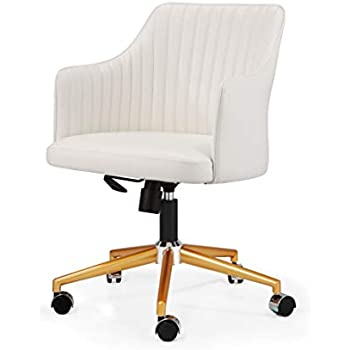 Amazoncom Meelano 356 Gd Whi 356 Gd Whi N Office Chair Goldwhite