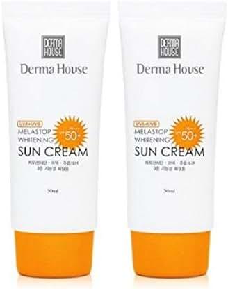 Derma House Melastop Whitening UV-A UV-B Sunscreen, Whitening + wrinkle Improvement + UV protection Triple Functionality,SPF50+ PA+++, 50ml / 1.8 Fl Oz ×2P