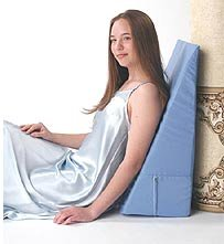 Alex Orthopedic - 5013-10-LB - Back Wedge Bed Reading Pillow - Light Blue - 10 in.