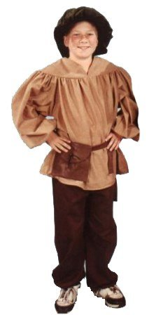 Child Renaissance Peasant Boy Costume (Alexanders Costumes Kids Renaissance Peasant Pants, Brown, Large)