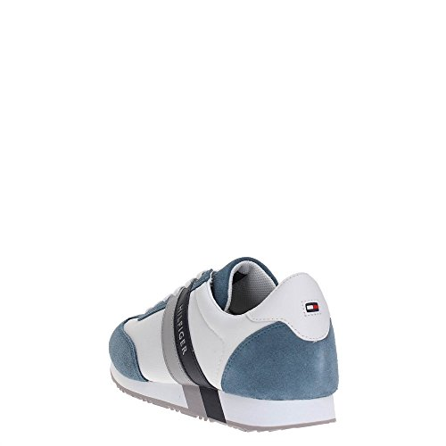 Tommy Hilfiger M2285axwell 12c1, Zapatillas para Hombre JEANS/WHITE