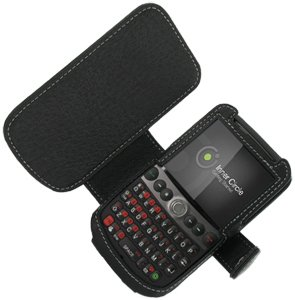 Monaco Black Book Type Leather Cover Case W/Removable belt Clip for T-mobile HTC Dash 3G /Snap s522