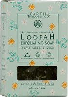 Earth Therapeutics Loofah Exfoliating Soap - Aloe Vera & Kiwi 4.2 oz (Earth Therapeutics Loofah Scrub)