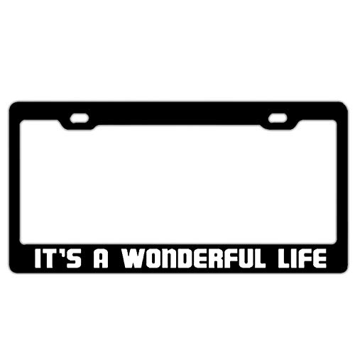 Hopes's License Plate Frame Car Licenses Plate Covers License Tag Aluminum Metal License Plate Frame Humor 2 Hole and Screws - It's A Wonderful Life Black