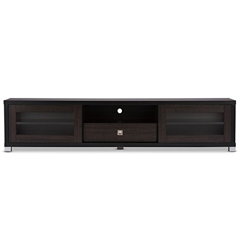 Svitlife Victoria Park Fiesta 70-inch Dark Brown TV Cabinet Center Doors Contemporary Media Console And Storage 63