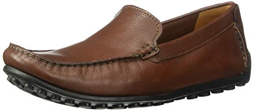 (CLARKS Men's Hamilton Free Driving Style Loafer, Cognac Leather, 115 M US)
