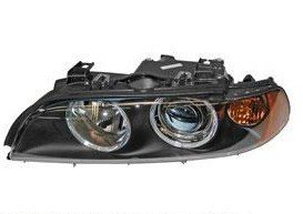 BMW E39 2000-2003 Headlight Assembly With Yellow Turn Signal LEFT