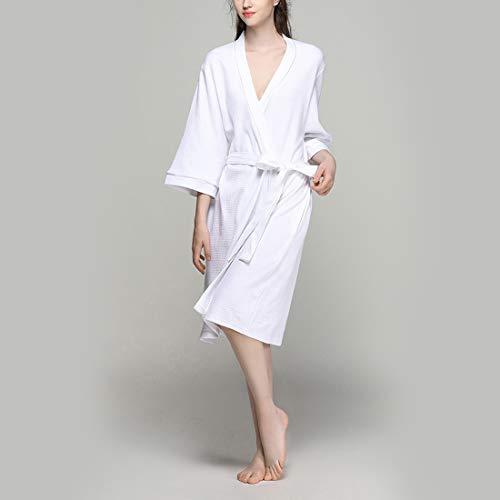 lungo M Gray1 donna Accappatoio per Spa Plus Size Color Accappatoio cotone White1 leggero Accappatoio in MALLTY Size ZAxPOP