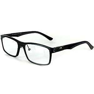 "Aloha Eyewear Men's ""Alumni RX05"" Retro Square Aluminum RX-Able Frames (Gunmetal +2.00)"