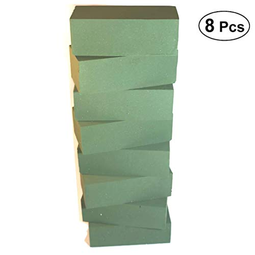 - Premium Green 8pc Wet Floral Foam Blocks for Fresh Floral Arrangements I Sculpting Foam Flower I Foam Brick Cube I Floral Arranging Supplies