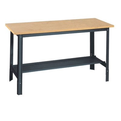 Edsal UB600 Steel Economy Work Bench with 1'' Flake Board, 72'' Width x 29'' Height x 24'' Depth, Industrial Gray by EDSAL