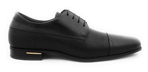 Zerimar Herren Lederschuh Schuh Leder Casual Schuh Täglicher Gebrauch Schöne Leder Sportlich Schuh für Den Mann Hochwertige Leder Schuhe Elegant mit Lederfutter 100% Leder Farbe Schwarz Größe 42
