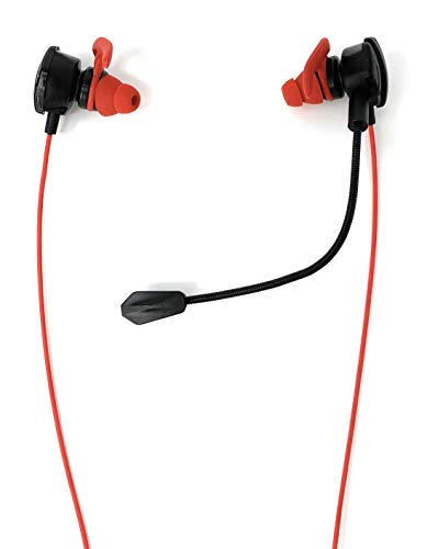 Gaming Earbuds CHASDI with Detachable mic for Xbox One, Switch, PC, Smartphone, PS4 Headset with in-Ear Buds Headphones (Red)