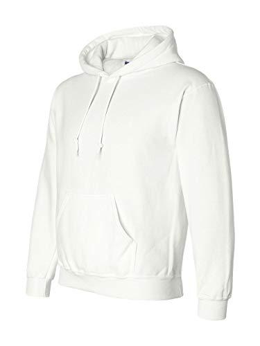 Gildan G125 DryBlend Adult Hooded Sweatshirt, White, -