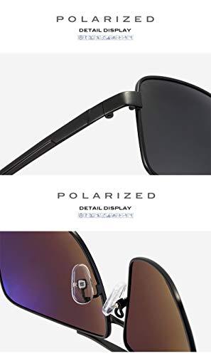 de 4 Ruiyue Lunettes pour Les Mode de polarisées de Soleil Soleil de UV400 de boîte de enduites en Protection Lunettes Tendance métal Style Hommes Lunettes wXrqrSdB1