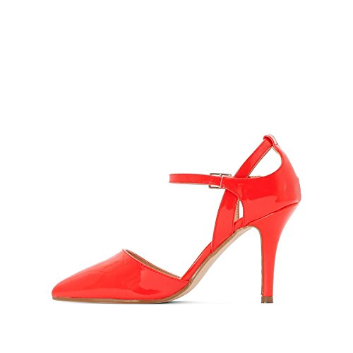 La Redoute Collections Frau Pumps, Lackoptik, Riemen Gre 39 Rot