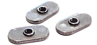 1/4-20 Center Hole Tab Weld Nuts/No Projections/Steel/Plain/1,000 Pc. Carton by Fastener Superstore