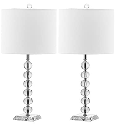 Safavieh Lighting Collection Victoria Crystal Ball 24-inch Table Lamp (Set of 2)