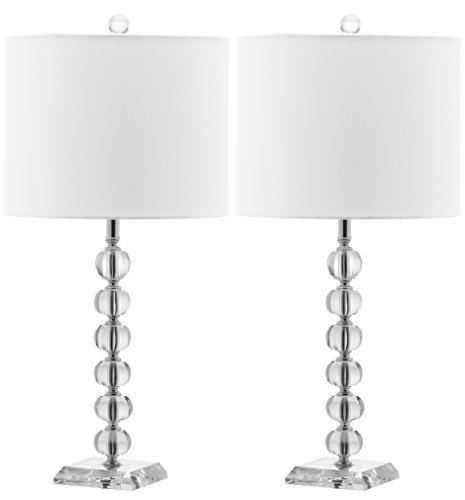 Stacked Crystal Table Lamp - Safavieh Lighting Collection Victoria Crystal Ball 24-inch Table Lamp (Set of 2)