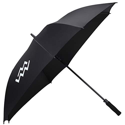 Mio Marino Extra Large Golf Umbrella Windproof - Square Umbrella - UV Protection - Automatic Open 62 Inch - for Men Women (Black)