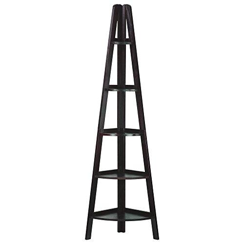 Espresso File Carts (Casual Home 5-Shelf Corner Ladder Bookcase)