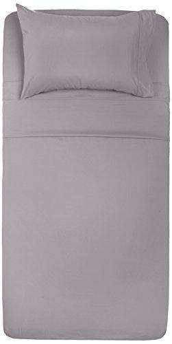 amazonbasics microfiber sheet set twin extra long dark grey import it all. Black Bedroom Furniture Sets. Home Design Ideas