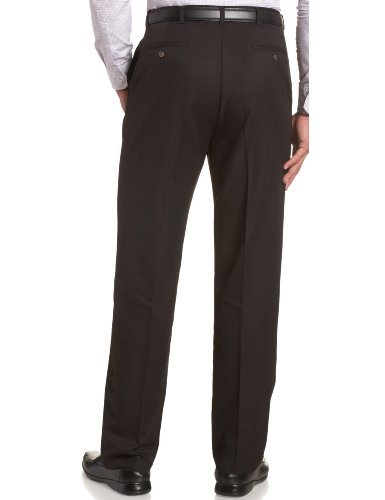 Haggar Men's Cool 18 Hidden Comfort Waist Plain Front Pant,Black,38x29 by Haggar (Image #2)