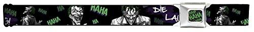 Joker Die Laughing! Haha Black/purple/green Seatbelt Belt