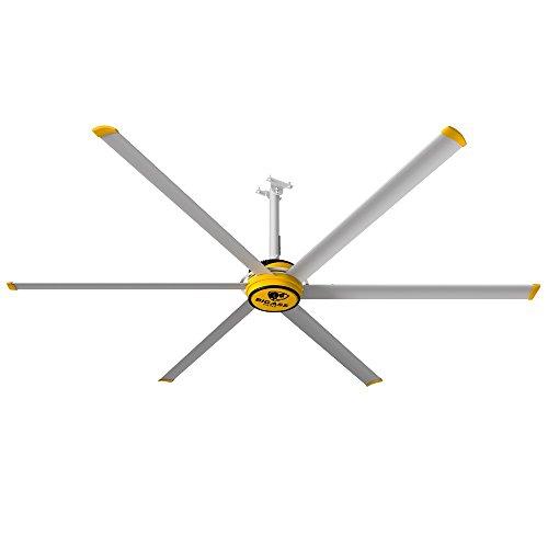 Big Ass Fans 3025 Silver/Yellow Shop Ceiling Fan
