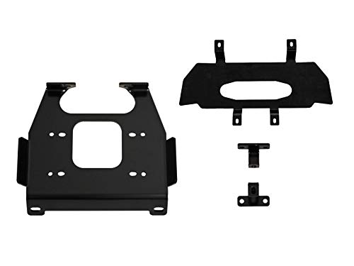 (SuperATV Heavy Duty Winch Mounting Plate for Polaris RZR XP 1000/4 1000 (2019+) - Dual Mounting Bolt Patterns)