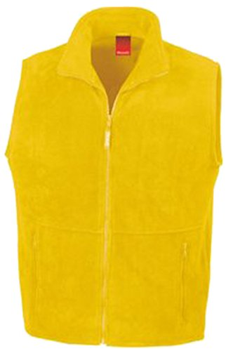 hombre Result Amarillo chaleco Active Outdoor Fleece dRqrRY
