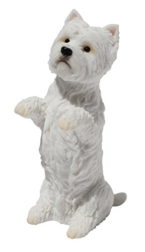 Figurine Terrier (West Highland White Terrier Sitting Up Figurine Statue 4 Inch Tall)