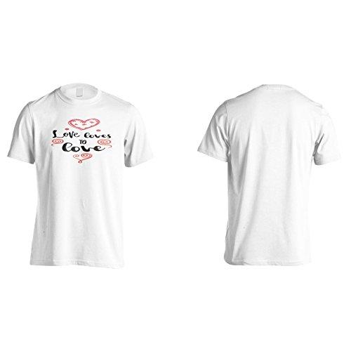 Liebe Liebt Es Zu Lieben Herren T-Shirt n286m