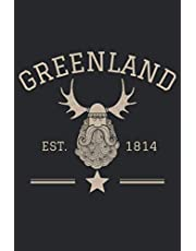 """Greenland Journal: Greenland Diary with Viking Cover, Document Your Thoughts and Experiences, Vintage Athletic Style, 120 Pages Lined Journal 6""""x9"""""""