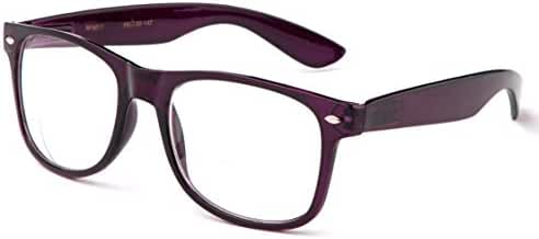 Newbee Fashion - IG Wayfarer Style Comfortable Stylish Simple Reading Glasses, 4 Pack - Black, Brown, Tortoise, Red