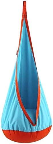 ROLLDC Silla de Vida al Aire Libre de los niños Europea colgado, Oscilación del bebé Cubierta, Anti-baranda móvil Puf Balcón Hamaca, for la Sala de Juego, al Aire Libre, Patio, Color: Un