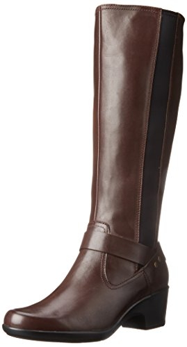 Clarks Women's Malia Willo Riding Boot - Brown Leather - ...