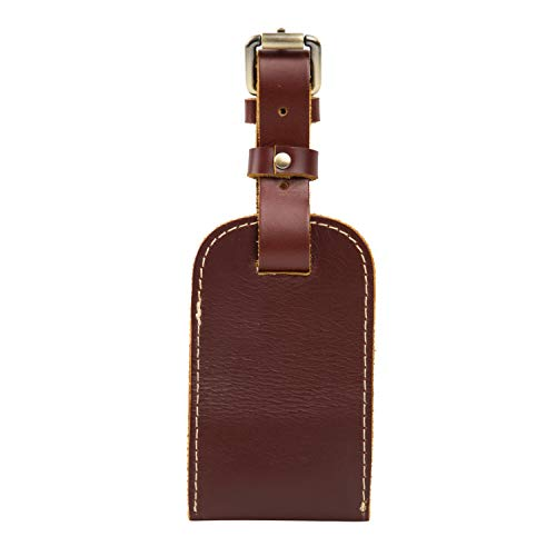Huntvp Genuine Leather Luggage Tags Business Card Holder Travel ID Bag Suitcase Label
