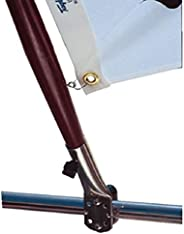 """Taylor Made Products 968 Stainless Steel Rail Mount Boat Flag Pole Socket (7/8""""-1 1"""