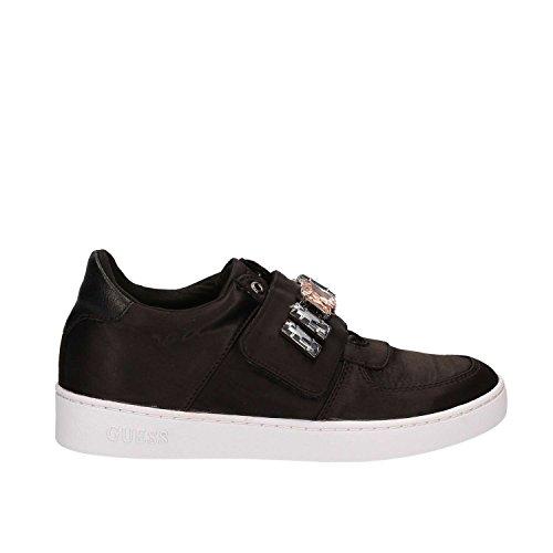 Damen Gewebe Schwarz Sneakers Guess SAT12 FLFLO1 tTwqOxpv