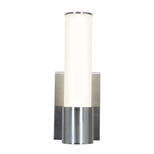 Access Lighting 70032LED-BS/OPL Aqueous LED Light Wall Brushed Steel Finish Sconce, Opal
